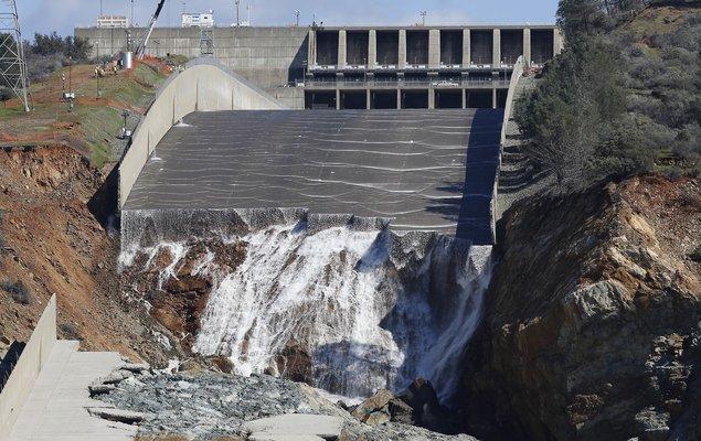 Damaged Dam California