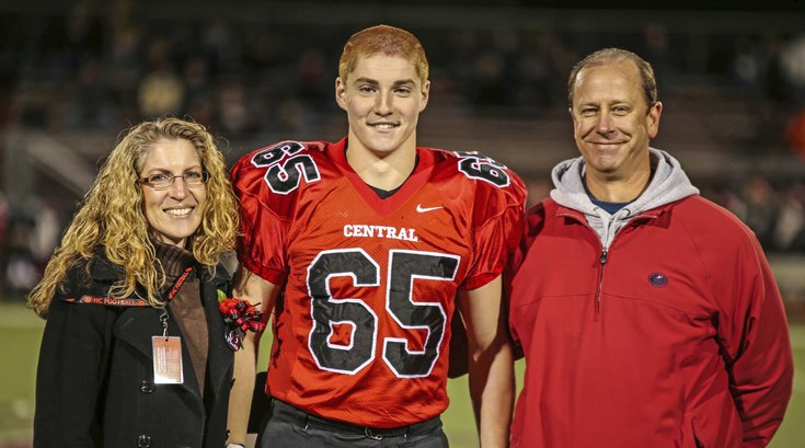 Timothy Piazza With Parents