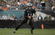 Eagles versus Broncos Carson Wentz