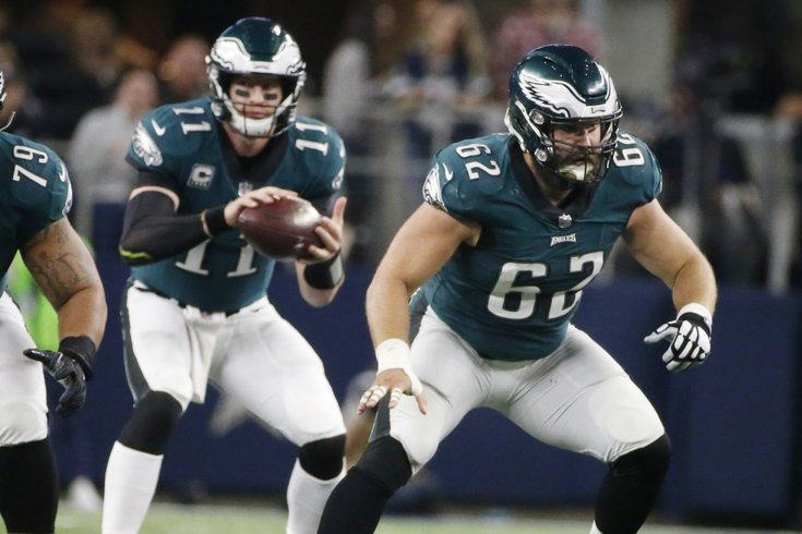 Jason Kelce Fine After Getting Cleated During Practice