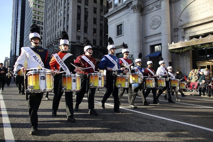 thanksgiving day parade  drummers