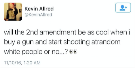 Professor who tweeted about white gun deaths placed on leave