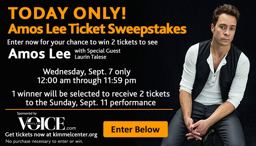 Today Only! Amos Lee Ticket Sweepstakes
