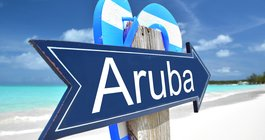 Aruba Sign On The Beach