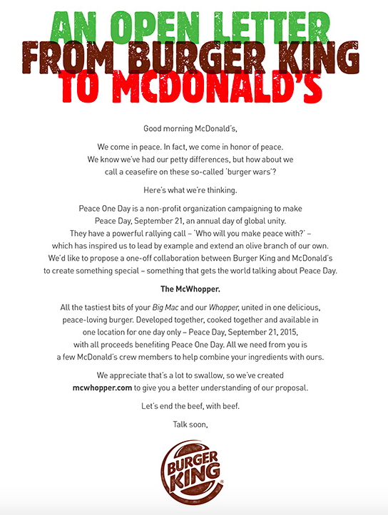Burger King's 'McWhopper' truce rejected by McDonald's | PhillyVoice