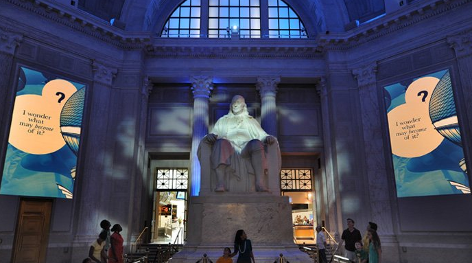 Ben Franklin statue in the Franklin Institute