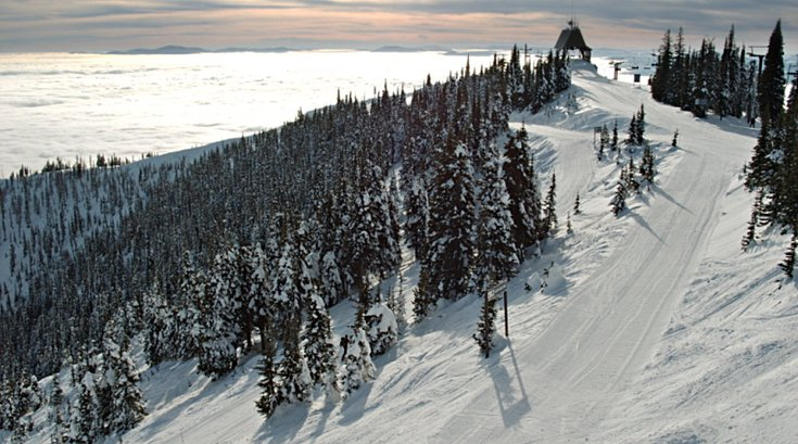 View from top of Big Mountain near Whitefish