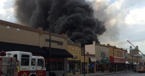Four Alarm Fire At Upper Darby Payless Shoe Store Phillyvoice
