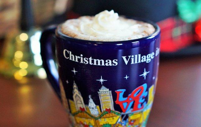 Christmas village mug