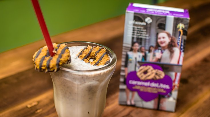 Girl Scout milkshakes