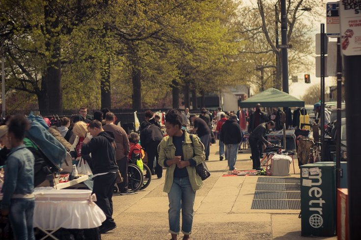Broad Street flea market