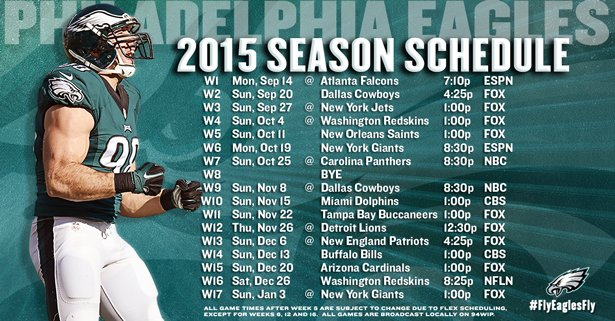 The Eagles 2015 schedule: Over-analyzing the advantages and ...