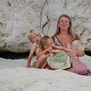 Breastfeeding at beach 2