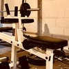 Home Gym Equipment in a basement