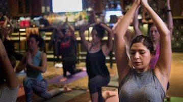 Hard Rock Cafe yoga