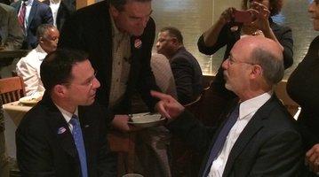 Wolf and Shapiro at Relish restaurant