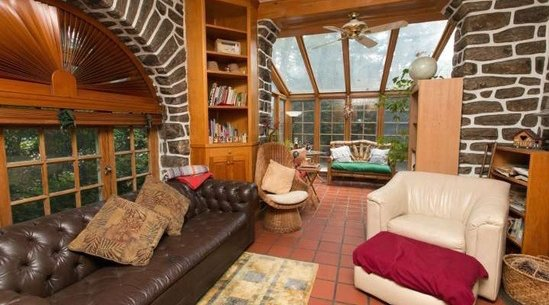 Brick sunroom