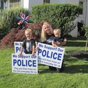 Kristin Meehan cops signs