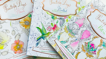 Adult coloring books by Kristy Rice