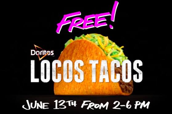 Free Food Taco Bell Doritos Locos Tacos