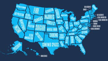 Map Worries United States