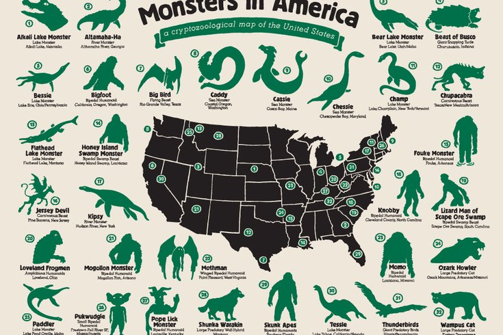 Philly Artist Designs U S Mythical Creature Map
