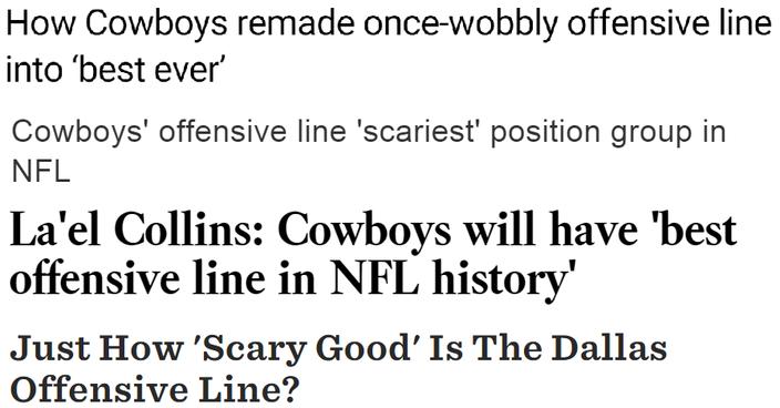 Cowboys OL headlines