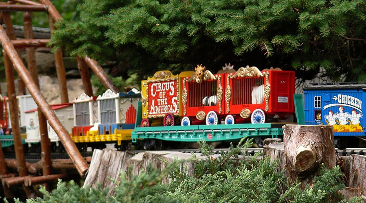 Circus Week at Morris Arboretum's Garden Railway