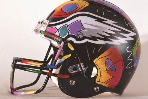 Peter Max painted an Eagles helmet