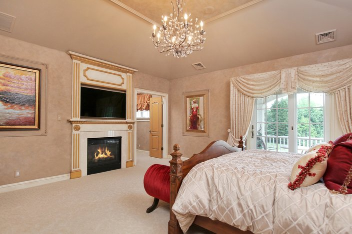 The Master Suite Also Features His And Her Walk In Closets.