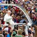 Pope Francis in Popemobile