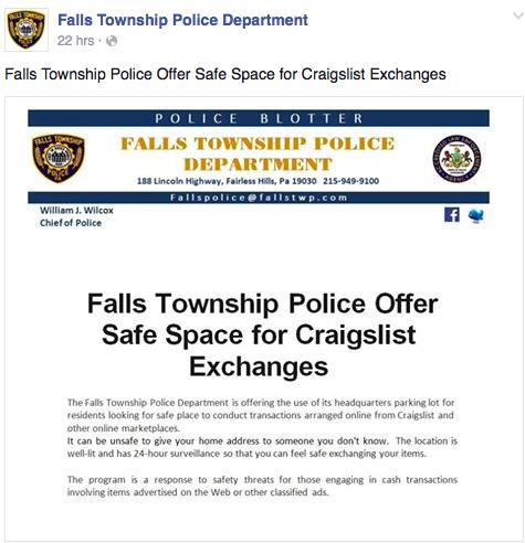 Pa. police designate Craigslist safe zones   PhillyVoice