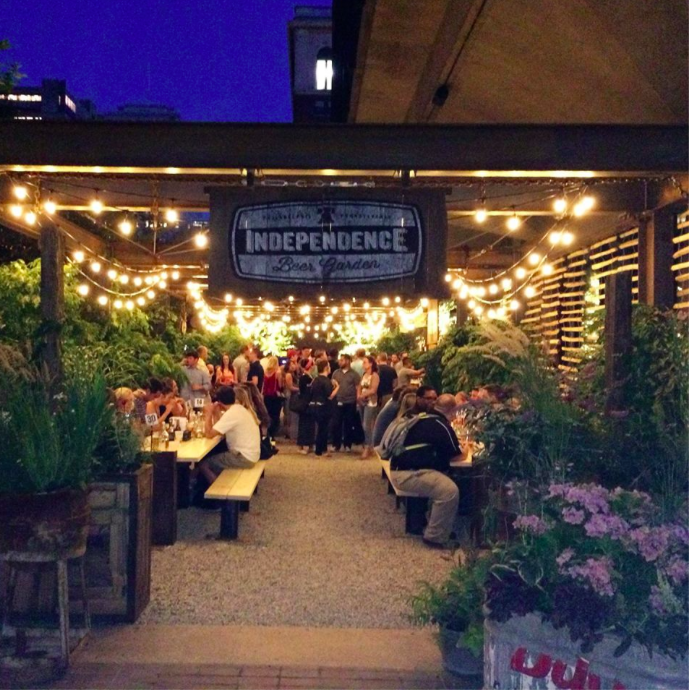 Your guide to philadelphia s pop up parks and beer gardens for Food bar garden