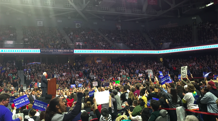 Bernie Sanders at Temple U.