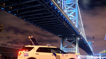 Ben Franklin Bridge Blue
