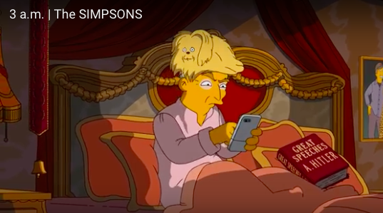 The Simpsons on Trump