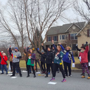Flash mob at Toomey's house