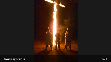 Cross burning