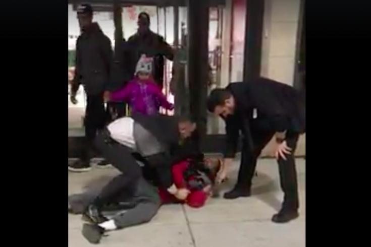 Shoplifting confrontation
