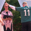 Groom wears Eagles jersey to wedding