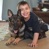 Shane Popiny and Service Dog Joei