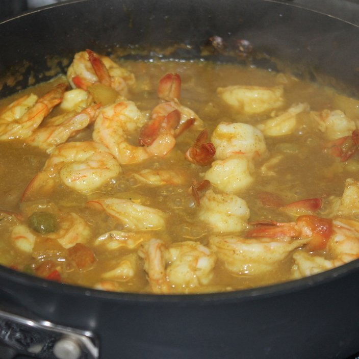 how to cook curry shrimp in coconut milk