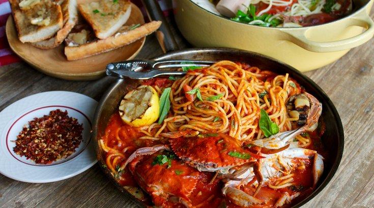 Spaghetti & Crabs