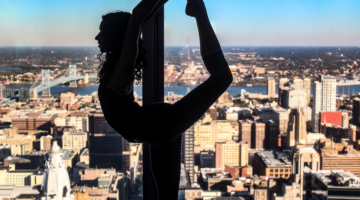 Sunrise Yoga at One Liberty Observation Deck