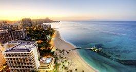Sunrise at Waikiki Beach Hawaii