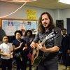 Andrew Lipke and Houston Students