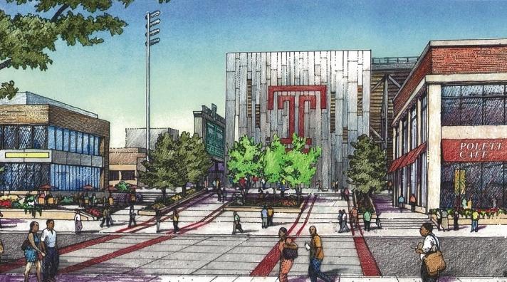 rendering temple stadium pw