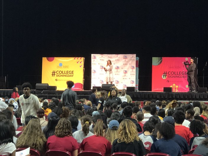 Bailee Madison Meets Michelle Obama at College Signing Day Event