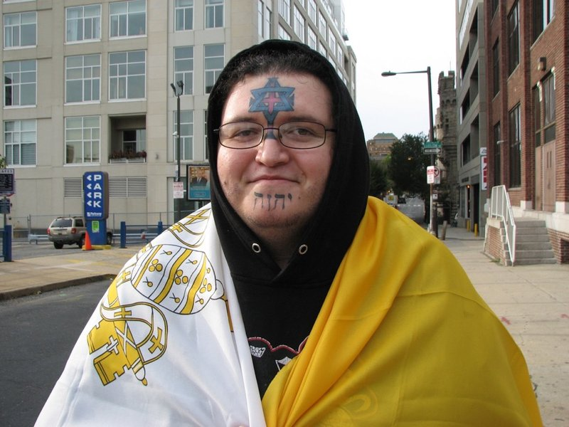 Pope francis arrives as pilgrims gather to greet him for Cross tattoo on forehead meaning