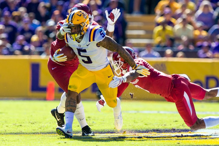 After Redskins trade down, running back Guice falls right to them